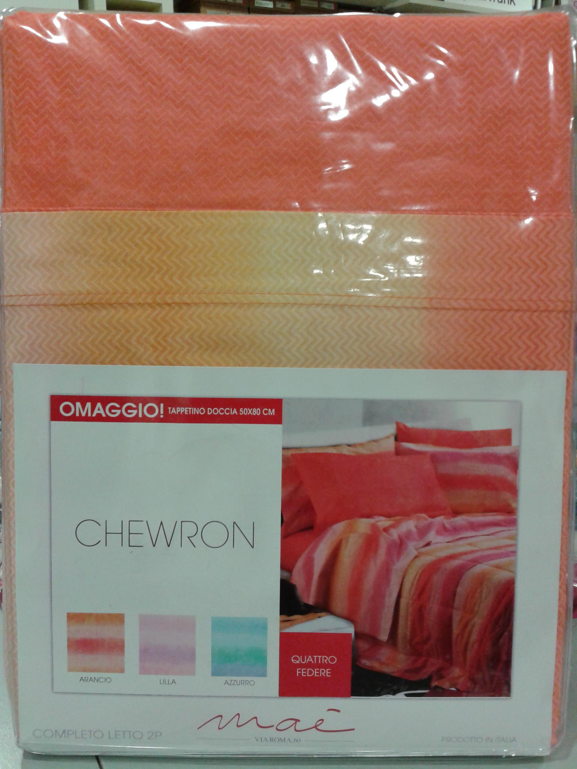 Completo lenzuola Chewron VIA ROMA,60